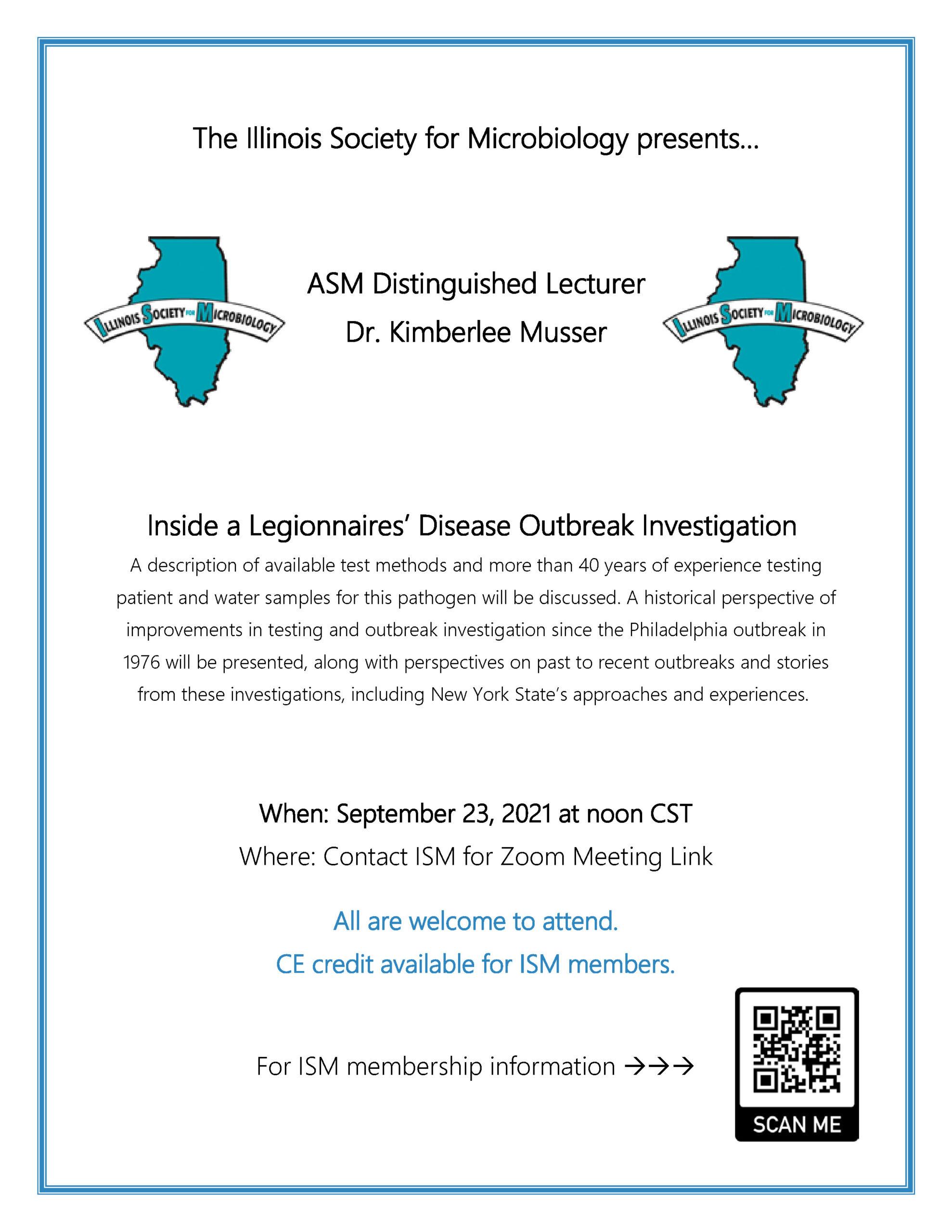 Legionnaire's lecture flyer